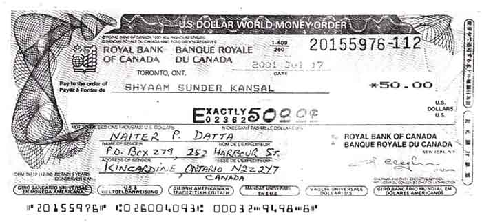 Bank Instrumentoney Orders
